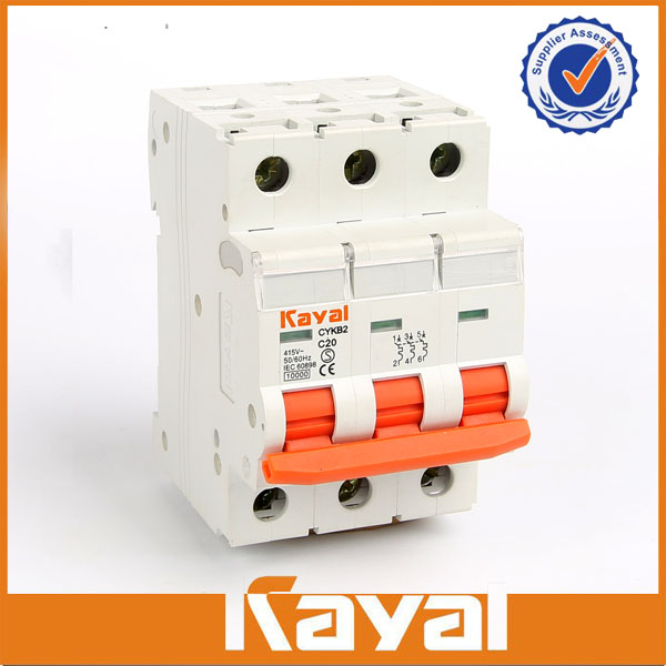 C65 mini circuit breaker 3 pole