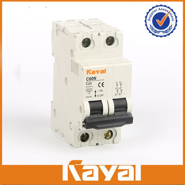 C60N 2 Pole Mini Circuit Breaker