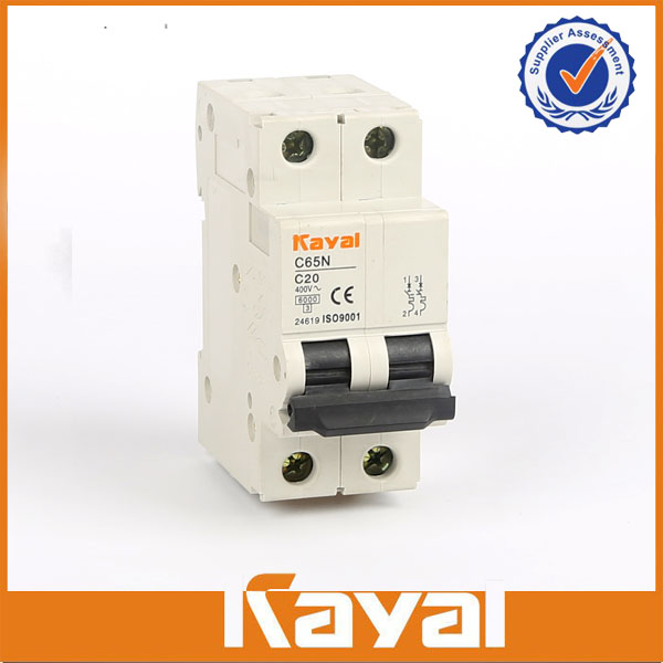 C65N 2 Pole Miniature Circuit Breaker